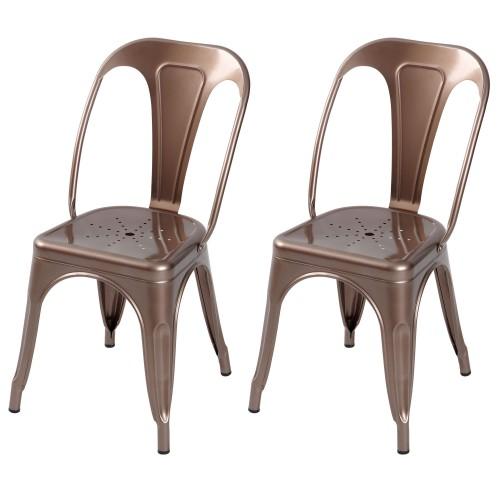 acheter chaises industrielles lot de 2