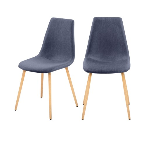 chaise scandinvave bleue