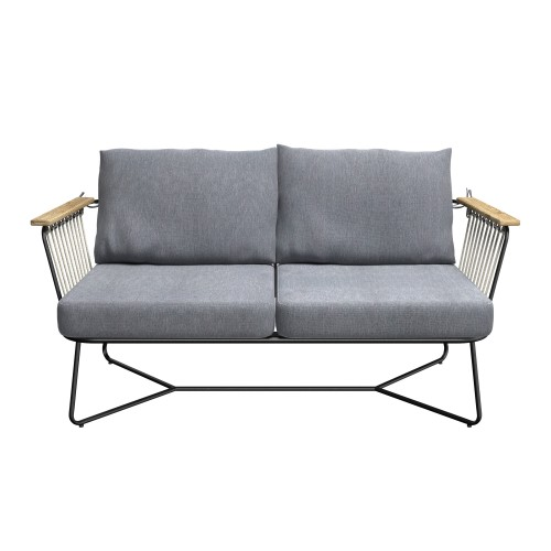acheter canape de jardin en metal bois et tissu