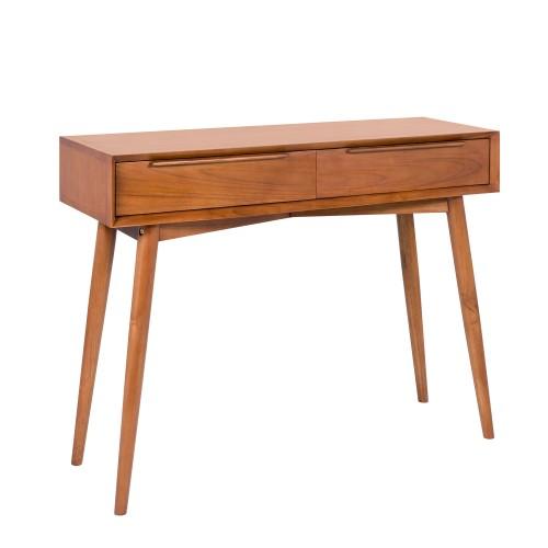 acheter console en bois fonce massif