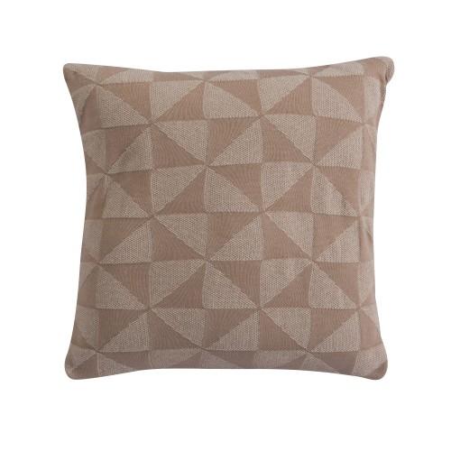 acheter coussin beige triangle en tissu