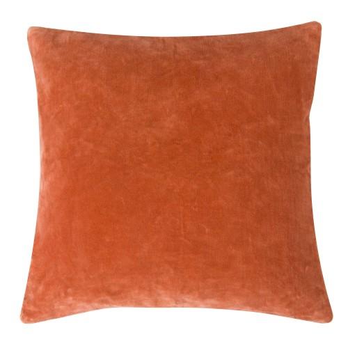 acheter coussin carre orange velours