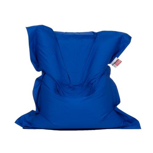 acheter coussin pouf bleu royal