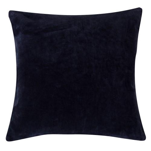 acheter coussin velours bleu nuit