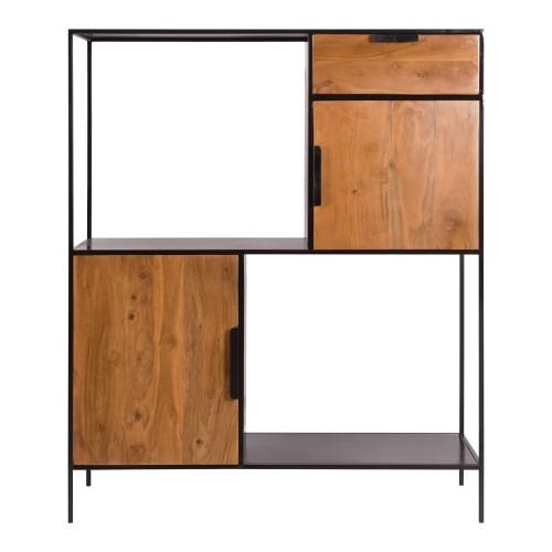 acheter etagere 2 portes en bois