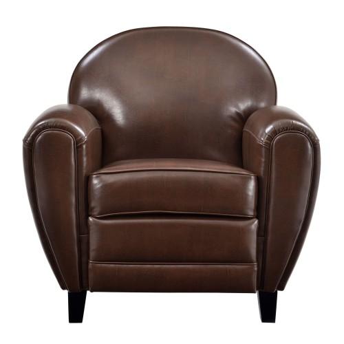 fauteuil club cuir marron