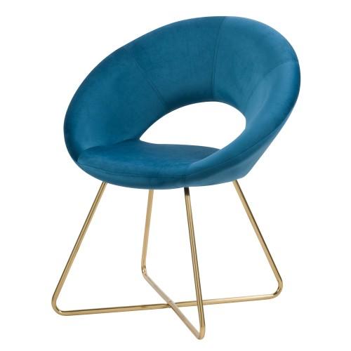 acheter fauteuil assise velours pied metal dore