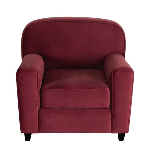 acheter fauteuil club bordeaux en velours