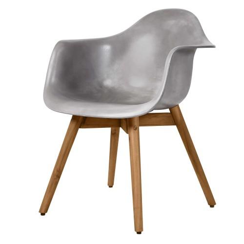 acheter fauteuil en beton et bois