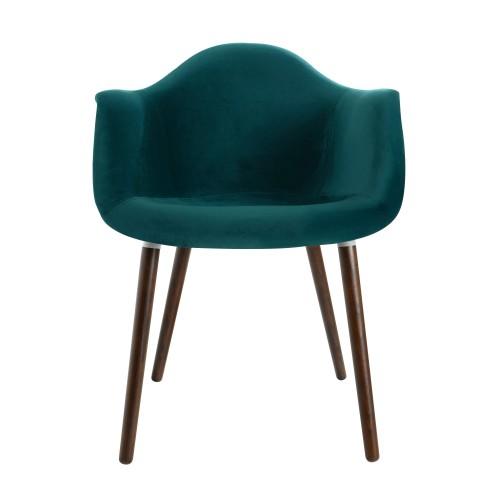 acheter fauteuil en velours vert design