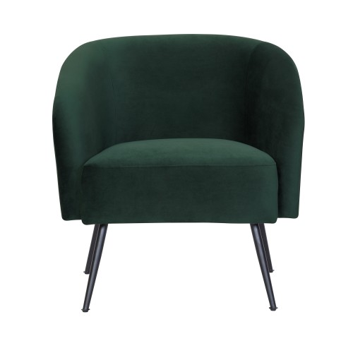 acheter fauteuil en velours vert