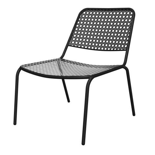 acheter fauteuil exterieur bas en metal