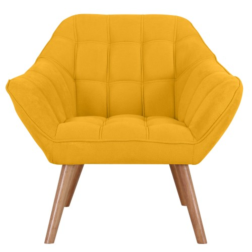 acheter fauteuil jaune tissu