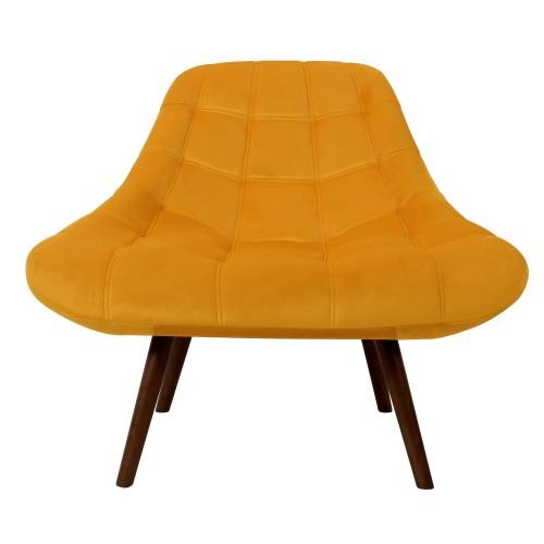 acheter fauteuil jaune velours