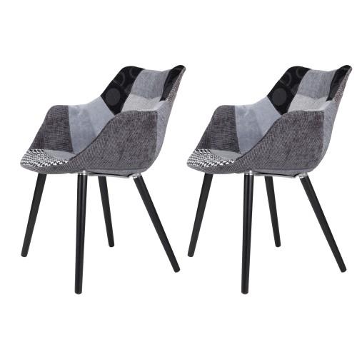 acheter-fauteuil-patchwork-gris-et-noir-scandi