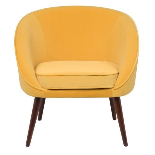 acheter fauteuil velours jaune confort
