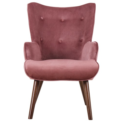 acheter fauteuil velours rose