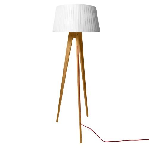 achat lampadaire freya bois clair