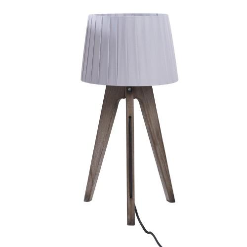 acheter lampe a poser grise abat jour blanc