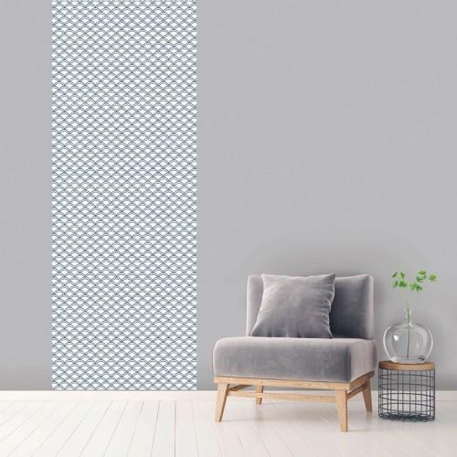 acheter le de papier peint bleu blanc 100 x 270 cm