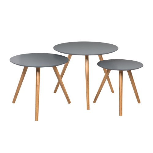 acheter lot de 3 tables basses grises