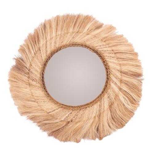 acheter miroir en matiere naturelle rond