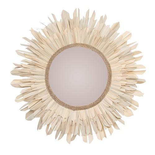 acheter miroir rond en matiere naturelle