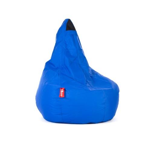 acheter pouf bleu electrique poire adulte