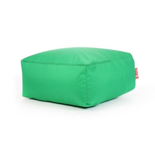 acheter pouf carre vert toile