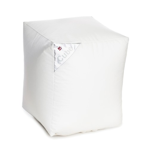 acheter pouf cube blanc carre