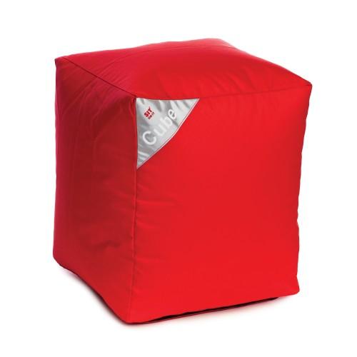 acheter pouf cube rouge carre