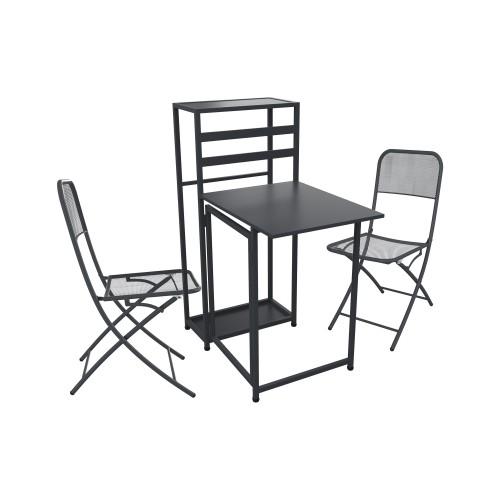 Ensemble table de balcon + 2 chaises Legend