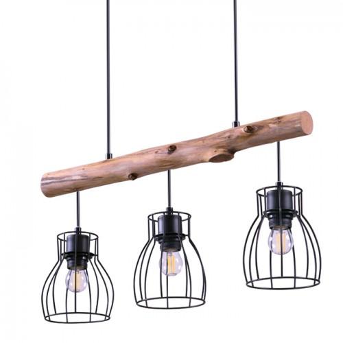 acheter suspension 3 lampes en metal