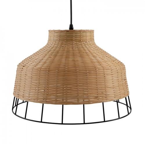 acheter suspension en bambou et metal noir