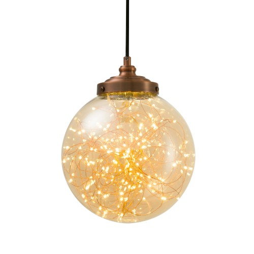 acheter suspension lumineuse en verre