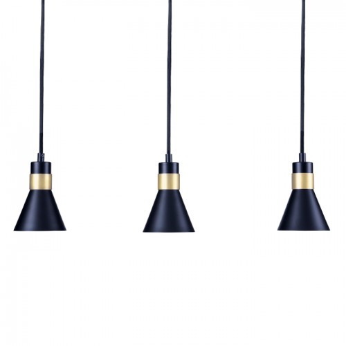 acheter suspension metal design noires