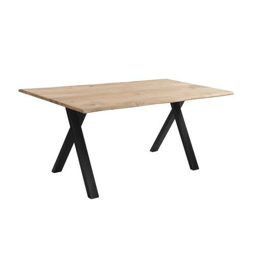 acheter table a manger en bois et metal