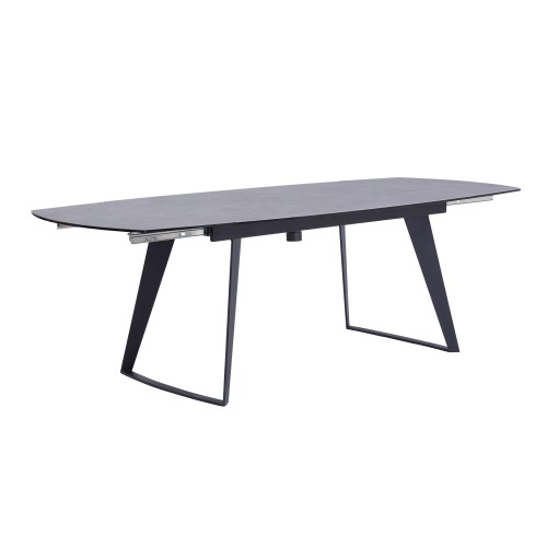 acheter table a rallonge grise pieds metal