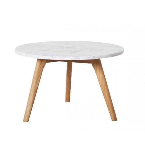 acheter table basse blanche bois marbre pas cher