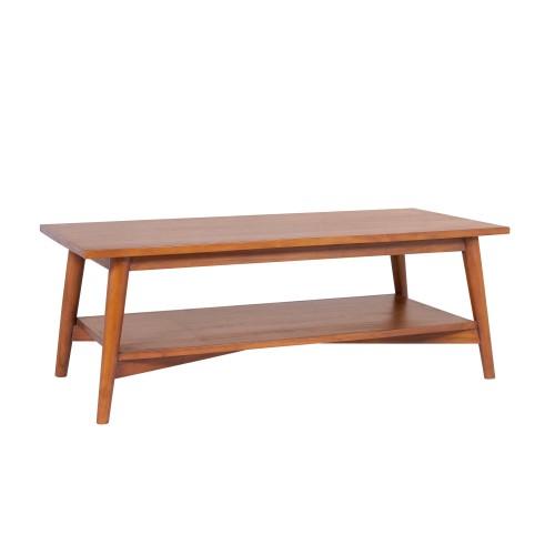 Table basse Waya avec tablette en teck