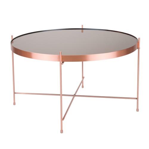 acheter table basse en cuivre ronde art deco