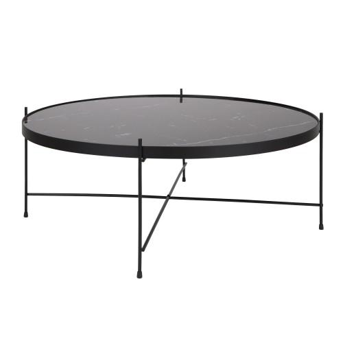 acheter table basse en metal effet marbre