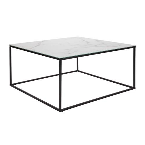 acheter table basse en verre effet marbre