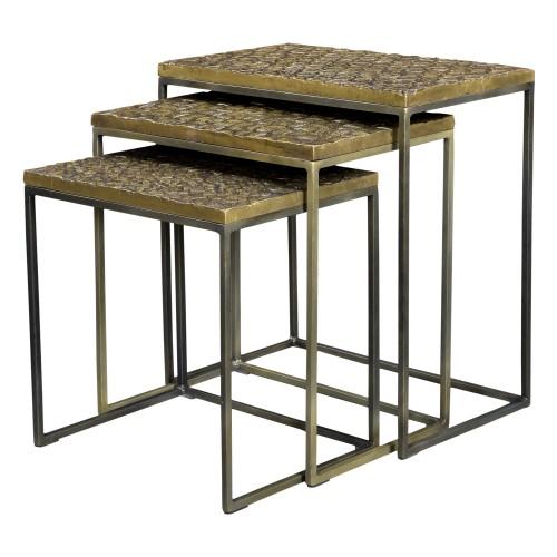 acheter table basse ethnique design doree