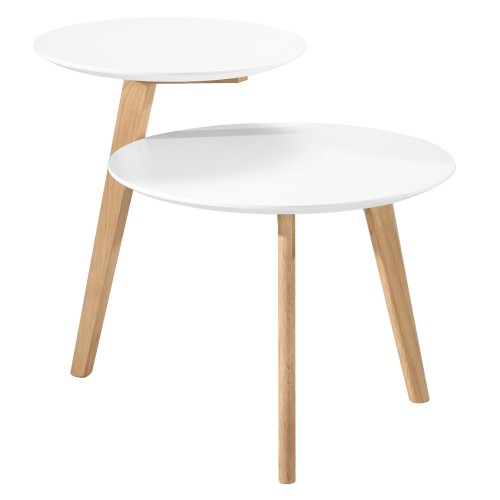 acheter table basse ronde blanche