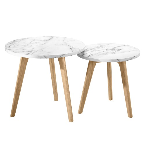 acheter table basse ronde effet marbre