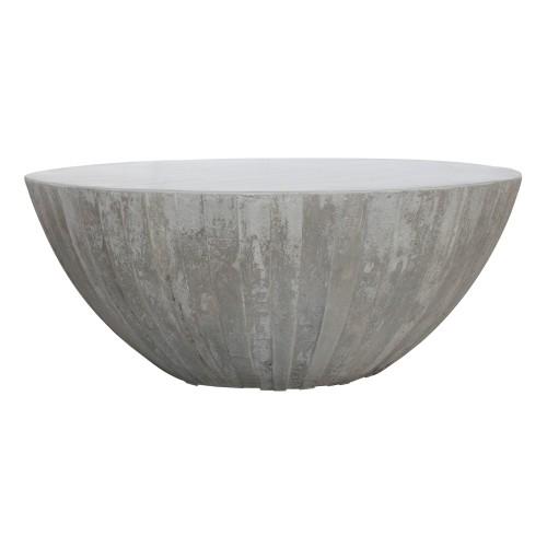 Table basse ronde Rumba béton