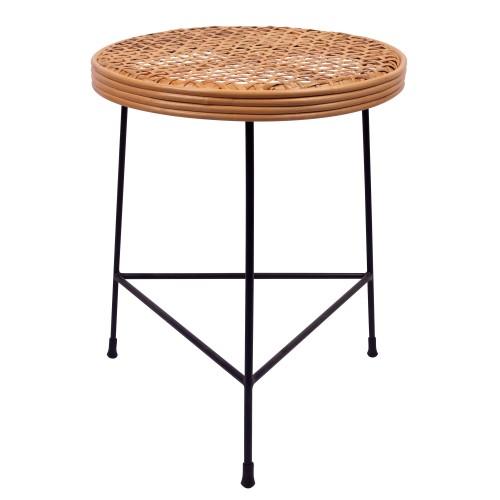 Table d'appoint Pipa en rotin tressé