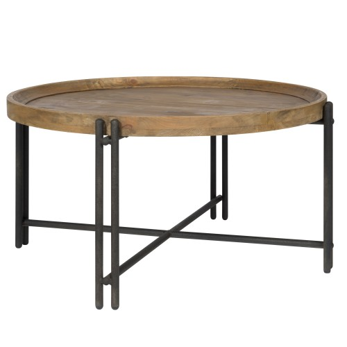 acheter table basse ronde industrielle