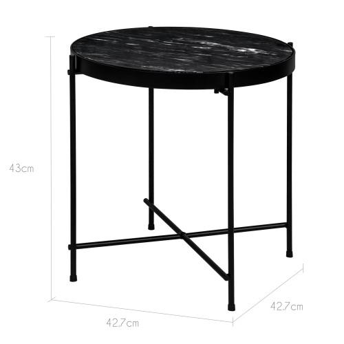 table basse ronde thilda large marbre noire d couvrez les tables basses rondes thilda larges. Black Bedroom Furniture Sets. Home Design Ideas